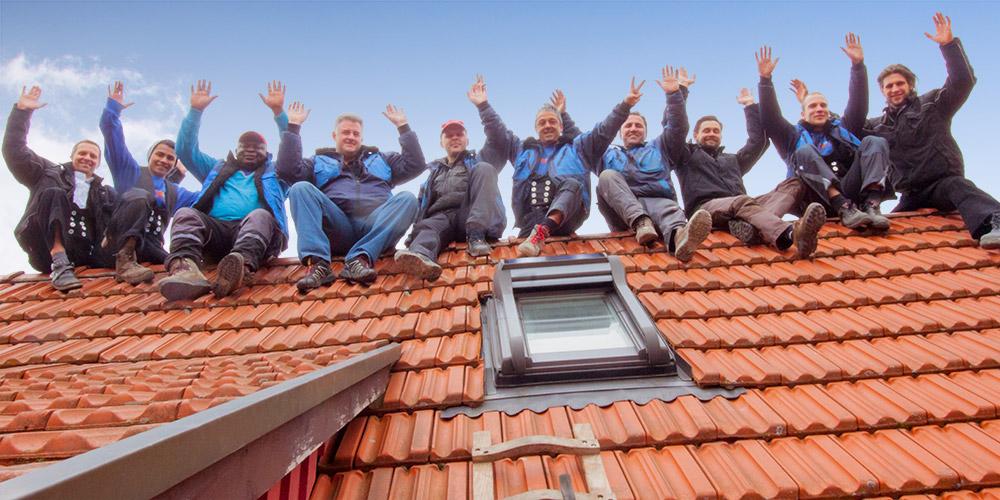 Team Schmit Bedachungen auf dem Dach