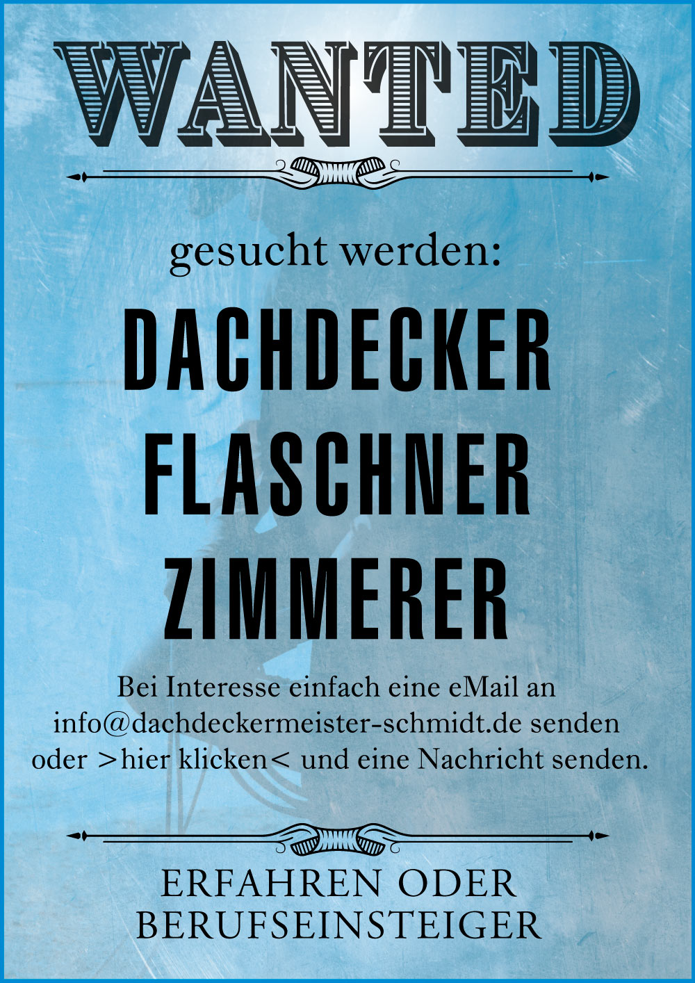 "Featured image for ""Schmidtarbeiter gesucht – Jobausschreibung"""